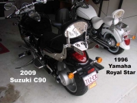 Suzuki C90-and-Yamaha Royal-star
